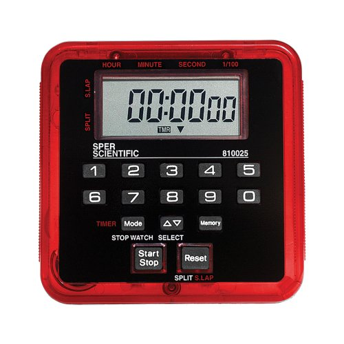 Sper Scientific 810025R Stopwatch and Countdown Timer