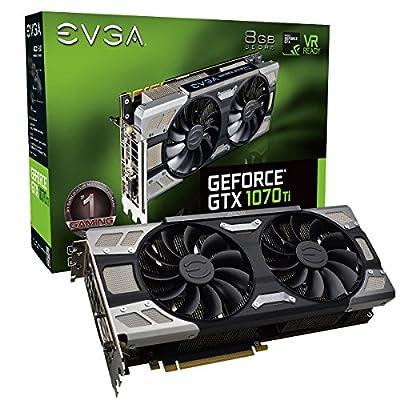 EVGA GeForce GTX 1070 Ti Gaming 8GB GDDR5 OCX Scanner OC White LED DX12OSD Support (PXOC) (08G-P4-5670-KR)