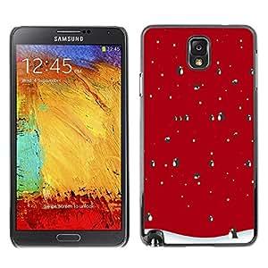 Be Good Phone Accessory // Dura Cáscara cubierta Protectora Caso Carcasa Funda de Protección para Samsung Note 3 N9000 N9002 N9005 // Winter Christmas Penguin Snow