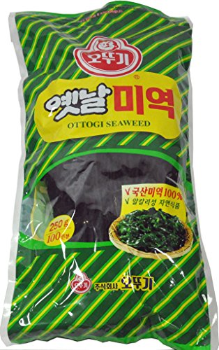 Ottogi Dried Seaweed 250g - Wakame (8.82 Ounce) (Sea Vegetable Wakame)