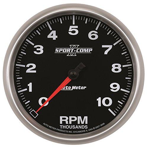 auto meter 3698 sport comp ii 5 10000 rpm in dash. Black Bedroom Furniture Sets. Home Design Ideas