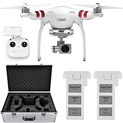 DJI Phantom 3 Standard Quadcopter Drone w/ 2.7K Camera + Extra Battery and Hard Case from DJI