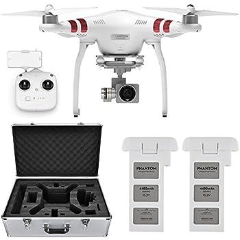 DJI Phantom 3 Standard Quadcopter Aircraft with 3-Axis Gimbal and 2.7k Camera, - Bundle With Spare Battery, DJI Aluminum Case