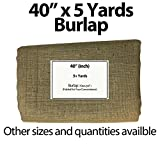 "Burlap Fabric 40"" Wide X 5 Yards"