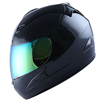 Carbon Fiber Motorcycle Helmets >> Wow Motorcycle Street Bike Full Face Helmet Carbon Fiber Black