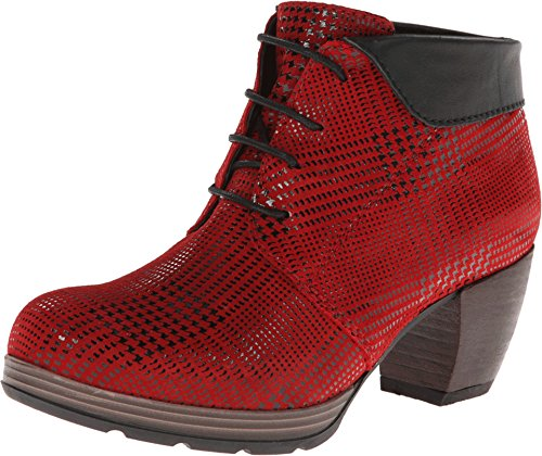 - Wolky Women's Jacquerie Red Dessin Suede W/Black Collar 37 European
