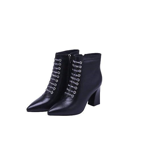 Shirloy Botas Cuero para Mujer Zapatos Cuero cómodos Botas Martin ...