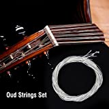 Oud Strings, Nylon Silver Plated Copper Alloy Clear Normal Tension Oud Strings Set Replacement Accessory