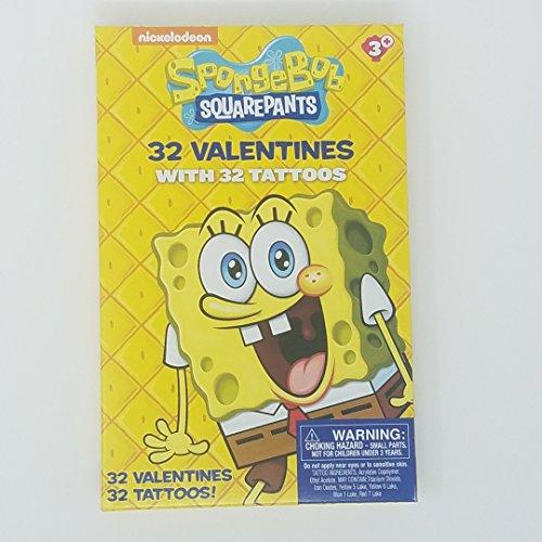 (Nickelodeon Sponge Bob Squarepants 32 Valentines With 32)