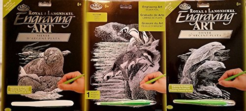 ENGRAVING ART ART KITS 3 SETS FOIL SILVER GREAT GIFT IDEA by ENGRAVING ART