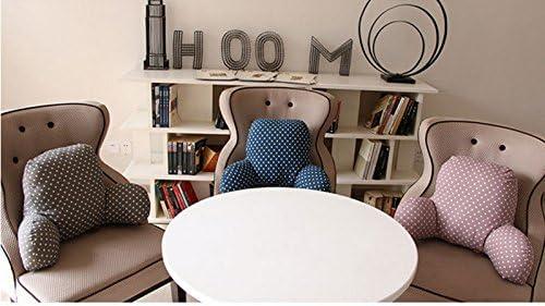 coj/ín de apoyo para sof/á silla de oficina con inserto de algod/ón T-Shape y funda extra/íble Almohada de lectura cl/ásica coche de Kenmont coj/ín lumbar 53x35x22cm gris oscuro