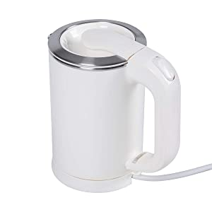 0.5Liter Portable Electric Kettle,travel kettle electric small dual voltage,110V/220V Switching Applicable to Global Voltage(White)