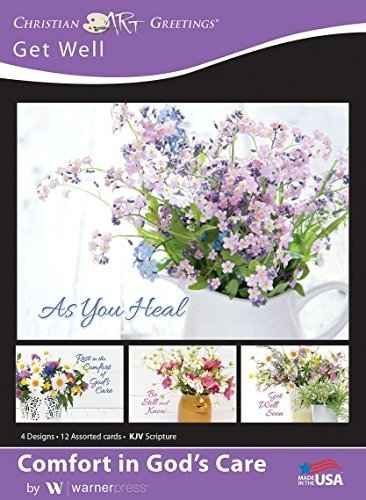 Comfort in God's Care - Get Well Greeting Cards - KJV Scripture - (Box of 12)