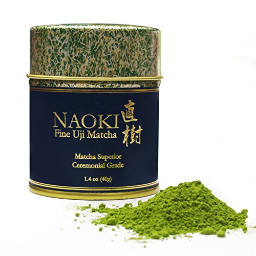Authentic Naoki Matcha Green Tea Powder Superior Ceremonial Grade - Japanese 40g (1.4oz) - Experience and Gift The True Essence of Japanese Uji Matcha, Perfect for Restoring Focus, Vitality and Health (Typical Amino Acid)