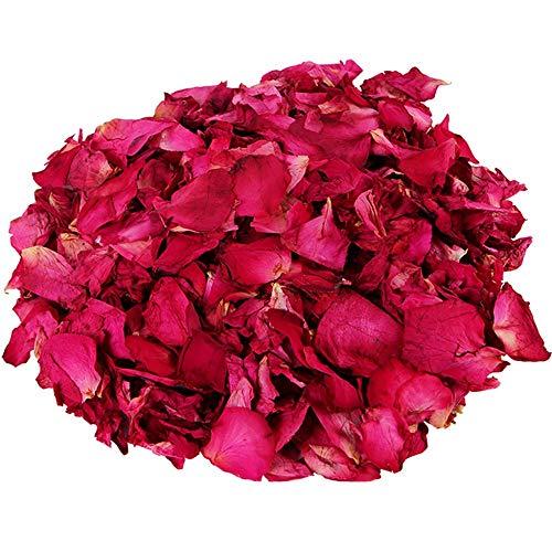 100% natürliche getrocknete Rosenblätter Trockene rote Rosenblätter Echte Blume für Whirlpool Körper Bad Hochzeit Home Duft Konfetti DIY Bastelzubehör