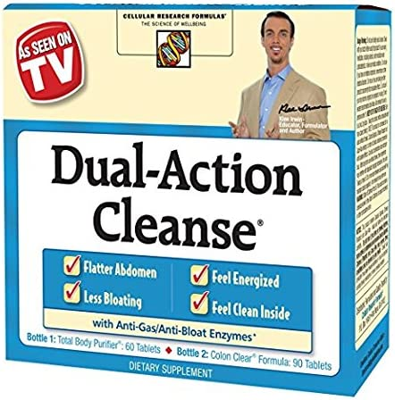 Applied Nutrition Dual Action Cleanse, 4Pack 150 Count Each