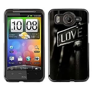 // PHONE CASE GIFT // Duro Estuche protector PC Cáscara Plástico Carcasa Funda Hard Protective Case for HTC G10 / GRITTY LOVE /