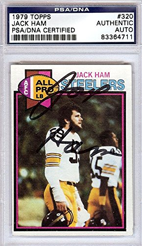 Jack Ham Autographed Signed 1979 Topps Card #320 Steelers #83364711 - PSA/DNA Certified - NFL Autographed Football Cards