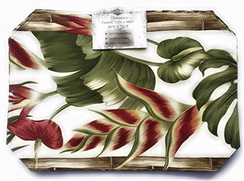 Hawaiian Heliconia Place Mats (Set of 4) by Kauhale Living