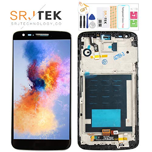 SRJTEK Screen Replacement for LG G2 LCD VS980 LS980 Screen D800 D801 D803 LCD Display Touch Screen Digitizer Glass Sensor Glass Repair Parts Kit Frame Assembly,Tools Tempered Glass - Replacement Screen Lg Lcd