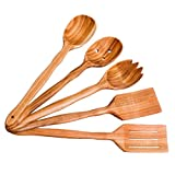 Utensil Set. Wooden Cute Kitchen Utensils Set. Kitchen Supplies & Utensils Big Set of 5 made of Cherry Wood
