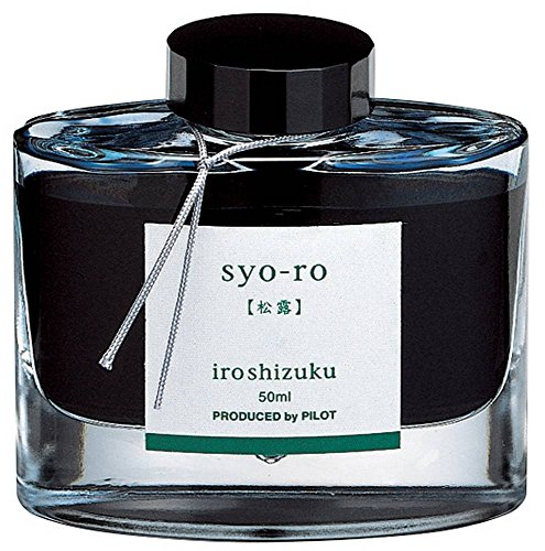 Pilot Iroshizuku Fountain Pen Ink - 50 ml Bottle - Syo-ro Pine Tree Dew (Gray Turquoise) (japan import)