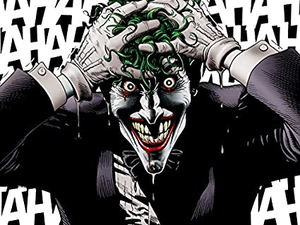 "THE JOKER CANVAS Killing Joke Comic Batman Poster Print Wall Art 30/""x20/"" CANVAS"