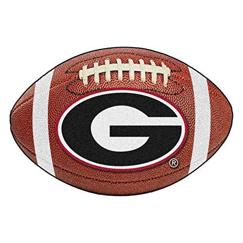 FANMATS NCAA University of Georgia Bulldogs Nylon Face Football Rug - Fanmats Georgia Rug