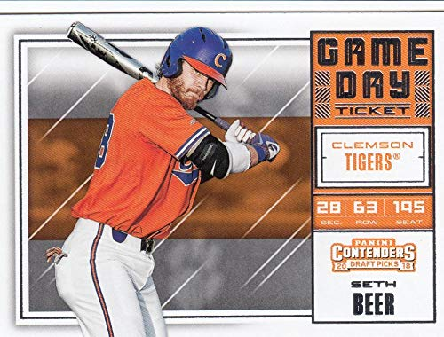 - 2018 Panini Contenders Draft Picks Game Day Tickets #18 Seth Beer NM-MT Clemson Tigers Official Licensed Collegiate Baseball Card