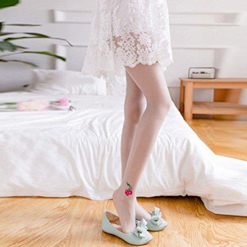 Calze A Vita Alta Con Strette Calze Di Ciliegio Calze Nere Alla Moda