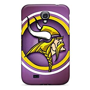 Excellent Hard Phone Covers For Samsung Galaxy S4 (Fzp10302fLtt) Support Personal Customs HD Minnesota Vikings Series