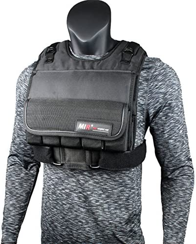 miR Short Weighted Vest with Zipper Option 20lbs – 90lbs 70LBS, Short