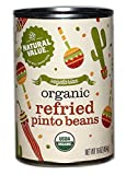 Natural Value Vegetarian Organic Refried Canned Pinto Beans, 16 Ounce (Pack of 12)