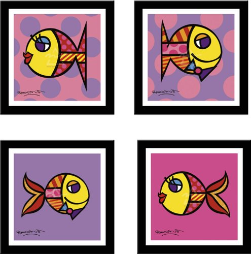 STRIPED FISH, DOTTY FISH, SWIMMINGLY PINK, SWIMMINGLY