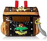 : Kidorable Toddler (7 x 10 inches) Brown Pirate, Fun Cutlass Zipper & 3D Embelishments Backpack