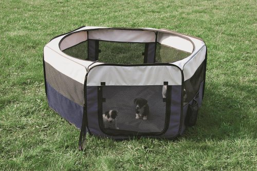 TRIXIE Pet Products Soft Sided Mobile Play Pen, (Mobile Pet Pen)