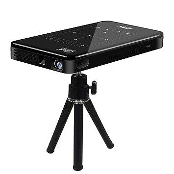 Mini proyector 4K, Android 6.0 WiFi Incorporado, 5000mAH Batería ...