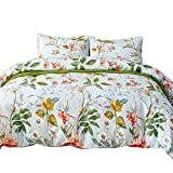 HOTNIU 2 Piece Pattern Bedding Duvet Cover Set - All-Season Soft Light-Weighted Bedspread