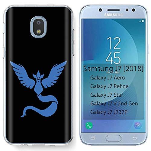 [Mobiflare] Samsung Galaxy (J7 2018) (J737) [J7 Aero / J7 Star / J7 Refine / J7 Top,] Ultraflex Thin Gel Phone Cover [Blue Bird Print]