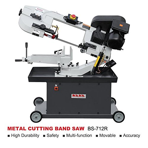 KAKA Industrial Metal Cutting Band Saw,Solid Design Metal Bandsaw, Horizontal Bandsaw, High Precision Metal Band Saw, Build-In Safety Settings, Space Saver Metal Cutting Band Saw (BS-712R) ()