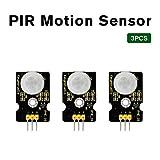 KEYESTUDIO 3 PCS PIR Motion Sensor for Arduino Pyroelectric IR Motion Sensor for Human Body Motion