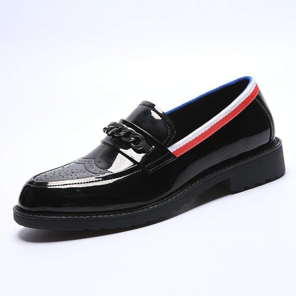 YAN Herrenschuhe Lackleder Dicke Unterseite Innerhalb erhöhen Schuhe Loafers für Casual Party & Abend Büro & Karriere Arbeit
