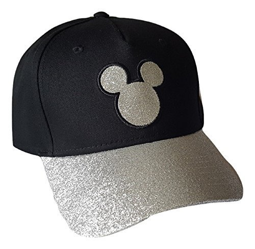 Disney Adult Hat Sequins Mickey Head, Black (Florida Namedrop)
