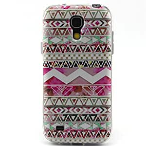 Galaxy S4 case, JAHOLAN Pink Triangle Flower Clear Bumper TPU Soft Case Rubber Silicone Skin Cover for Samsung Galaxy S4 i9500 (Not for S4 Mini)