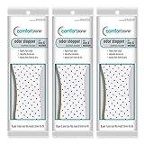 Comfort Zone Odor Stopper Insoles Unisex, Women's 5-10 Men's 7-13 (Pack of 3)