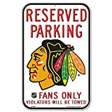 NHL Official Chicago Blackhawks 11-by-17 inch Plastic Reserved Plastic Sign