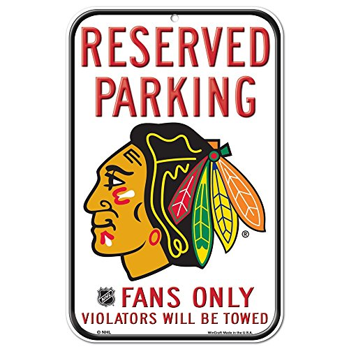 NHL Chicago Blackhawks 11-by-17 Inch Sign (Chicago Blackhawks Goalie)
