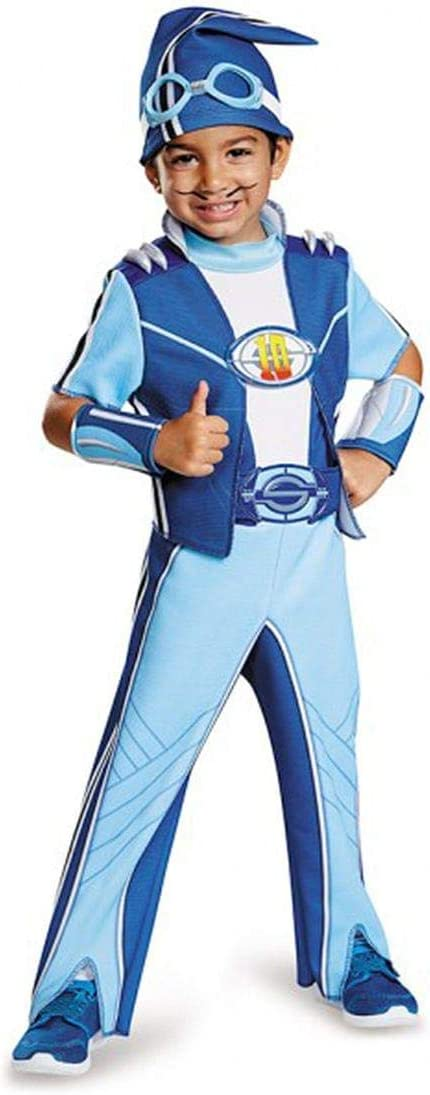 Amazon Com Nickelodeon S Lazytown Sportacus Deluxe Toddler Costume Medium 3 4t Toys Games