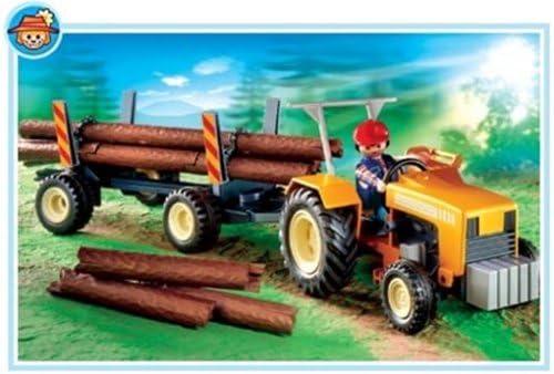 Playmobil - 4209 - La Vie à la ferme - Bucheron / Troncs d'arbre
