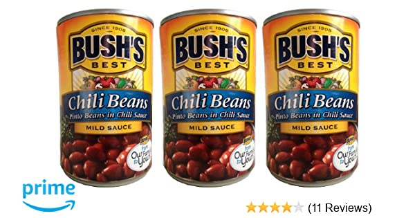 cbeecfca1 Amazon.com : Bush's Best Chili Beans-- pinto beans in mild chili sauce (3  pack) each can is 16 ounces for a total of 48 ounces : Grocery & Gourmet  Food